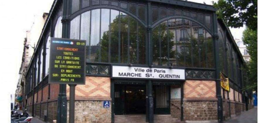 Marché couvert Saint Quentin, the food market with all the fresh....